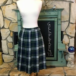 Vintage Jos A. Bank Wool Paid Skirt